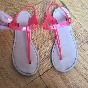 Aldo Hot Pink Rubber Sandals Size 7